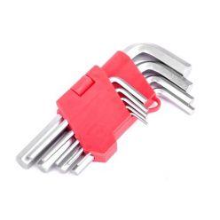 Набор Г-образных шестигранных ключей Cr-V Intertool