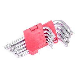 Набор Г-образных ключей TORX с отверстием Cr-V Intertool