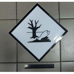 BH. Знак опасной для окружающей среды вещества 30х30 (наклейка)
