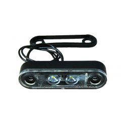 Габаритно-контурный фонарь Horpol 2 LED высокий резиновый корпус белый