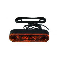 Габаритно-контурный фонарь Horpol 2 LED высокий резиновый корпус оранжевый