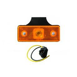 Габаритный прямоугольный фонарь Horpol HOR 43 с отражателем с крючком оранжевый