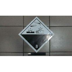 BH. Наклейка коррозионные или едкие материалы 8 клас. 30х30 см