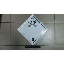 BH. Наклейка коррозионные или едкие материалы 6 клас. 30х30 см