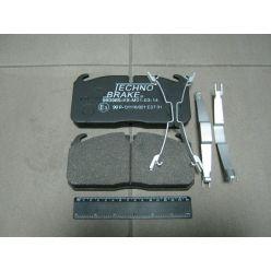Колодка торм. диск. (компл. на ось) DAF LF45, IVECO, MAN L/M/ME2000, RVI MIDLUM (пр-во Techno Brake)
