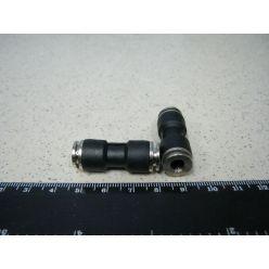З'єднувач аварійний 6х6 пласт. трубки ПВХ (RIDER)
