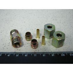 З'єднувач трубки ПВХ прямий різьбовий (Dвнут.=6мм, М12х1,5) (RIDER)