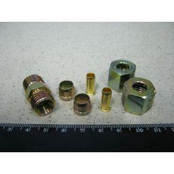 З'єднувач трубки ПВХ прямий різьбовий (Dвнут.=8мм, М14х1,5) (RIDER)