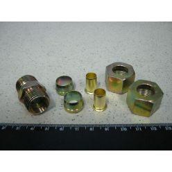З'єднувач трубки ПВХ прямий різьбовий (Dвнут.=12мм, М18х1,5) (RIDER)