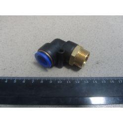 Соединитель аварийный метал. угловой ( наружн. резьба ) M22*1.5 d-14 трубки ПВХ