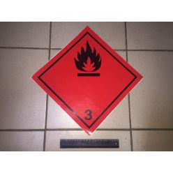 BH. Наклейка легковоспламеняющиеся жидкости  3 клас. 30х30 см
