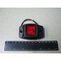 BH. Лампа габаритная LED на резине, 12/24 V красная,квадрат