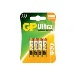 Батарейка GP AAA (LR03) Ultra Alkaline 1,5V щелочная 24AU-U4