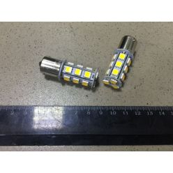 Лампа LED  указателей поворотов и стоп-сигналов  S25 (18SMD) BA15S 24V  WHITE TEMPEST