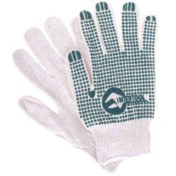 Перчатка х/б трикотаж. с резиновым вкраплением с одной стороны(ПВХ зелен)(Intertool)