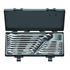 Набор ключей комбинированных Force 16 пр. (6-24 мм) в кейсе