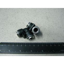 Фітінг повітряний металл-пластік,угл.d-10