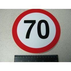 Табличка ліміт швидкості 70 км/год
