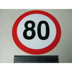 Табличка ліміт швидкості 80 км/год