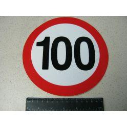 Табличка ліміт швидкості 100 км/год