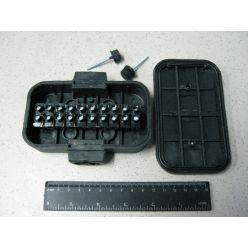 Герметичная коробка для проводов на 10 элементов