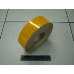 Лента светоотражающая желтая шир. 50мм. Турция
