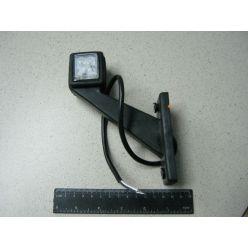 Лампа габаритная LED диогональная короткая, 12/24 V левая,квадрат