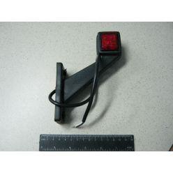 Лампа габаритная LED диогональная короткая, 12/24 V правая,квадрат