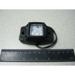 BH. Лампа габаритная LED на резине, 12/24 V белая,квадрат