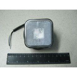 BH. Лампа габаритная LED отражающая 12/24V белая,квадрат