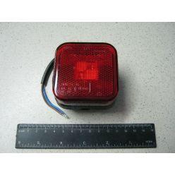 BH. Лампа габаритная LED отражающая 12/24V красная,квадрат