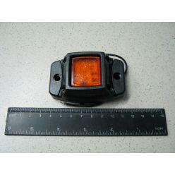 BH. Лампа габаритная LED на резине, 12/24 V желтая,квадрат