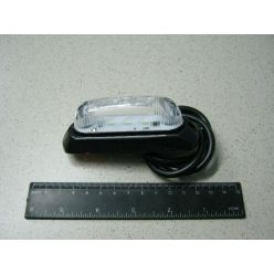 Лампа габаритная LED на резине овальная, 12/24 V белая