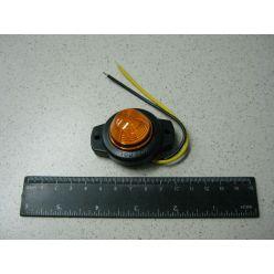 Лампа габаритная с фиксацией 12/24 V желтая маленькая