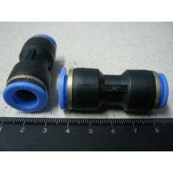 BH. Фитинг воздушный пластик,прямой d-11