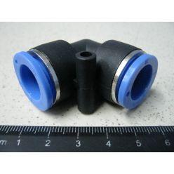 BH. Фитинг воздушный -пластик,угл.14 мм