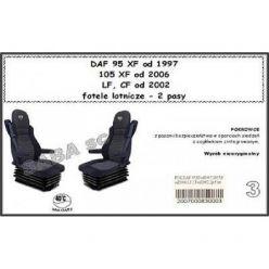 Чехол Saba на DAF 95XF от 1996, 105XF от 2006, CF, LF с 2002, сиденья-вертушки, 2ремня